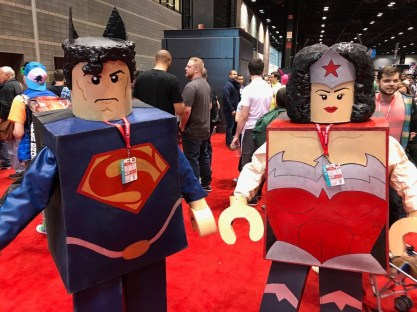 C2E2 2017 Cosplay - Lego Superman | Lego Wonder Woman