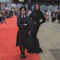 C2E2 2017 Cosplay - Morticia & Wednesday Addams