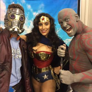 SVCC 2017 Cosplay - Starlord   Drax   Wonder Woman