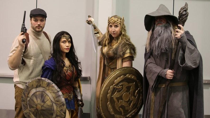 WonderCon 2017 Cosplay - Wonder Woman and Gandalf