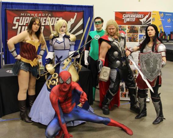 Wizard World Minneapolis 2017 - Spider-man | Wonder Woman | Phoebe | GReen Arrow | Thor
