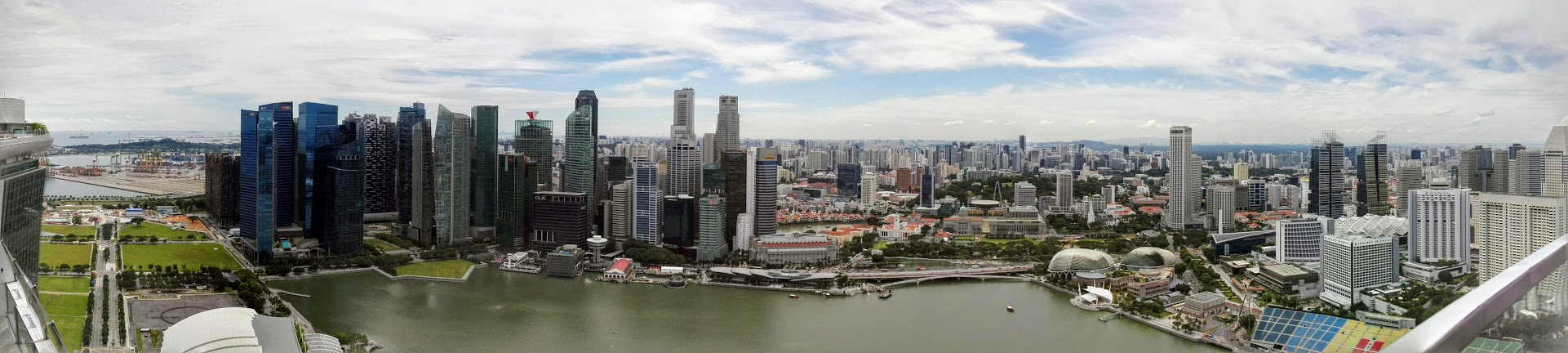 Geek Cat - Singapur - co zwiedzić - panorama Singapuru