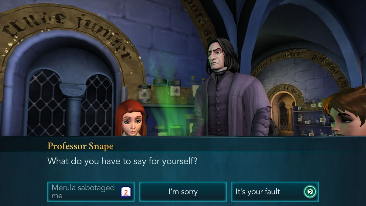 Geek Review     Harry Potter  Hogwarts Mystery  Mobile    Geek Culture Folks are wary of you because your older brother  Jacob  was previously  expelled for breaking the school rules in his dangerous search for the  fabled Cursed