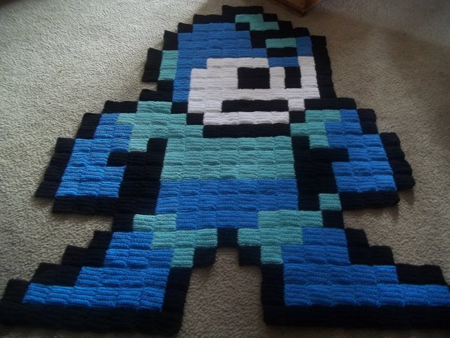 love video throw and retro crocheted rug blankets in ms game pac man z