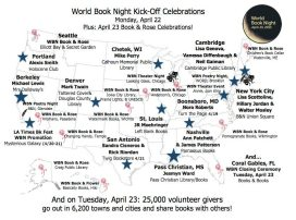 World Book Night events on April 23 blanket the U.S.