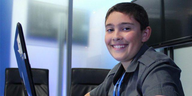 Teen at computer