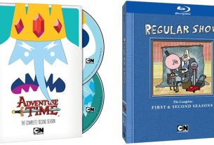 Adventure Time and Regular Show Blu-rays