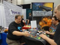 Eric Salyers (Break From Reality Games) teaches a game of Damage Report, a real-time cooperative space game. (We won! But this was the easy mode.)