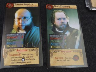 Each character has a unique starting deck and abilities. (Dark Gothic)