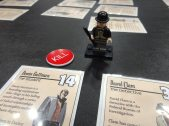 I tried a demo of Kill Doctor Lucky: The Card Game, which James Ernest was still tweaking.