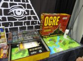 Steve Jackson Games had a copy of the enormous OGRE on display.