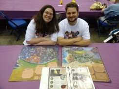 Angie Hickman-Newnham and Julian Leiberan-Titus ran demos of their family-friendly storyteling adventure game, Storm Hollow. The prototype maps of Storm Hollow and the city of Venture were beautiful and incredibly detailed.