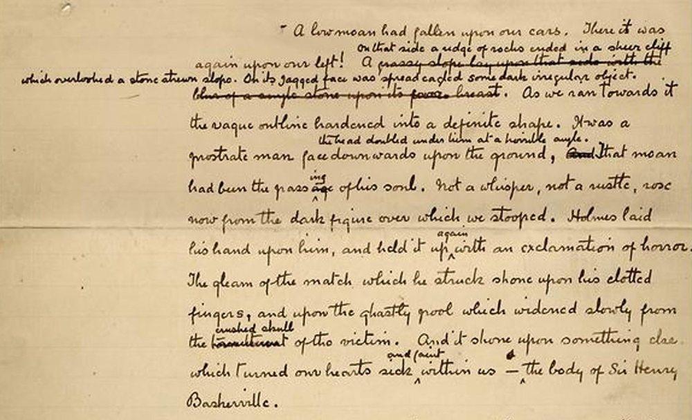 Sherlock-manuscript