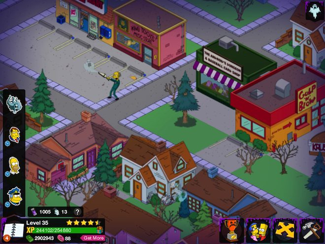 Mr. Burns vacuums up a ghost in the Halloween update for The Simpsons: Tapped Out