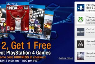 PS4 Amazon buy 2 get 1