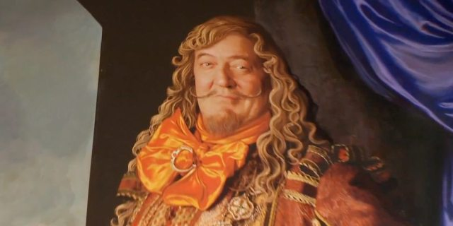 A portrait of the Master of Laketown, played by Stephen Fry