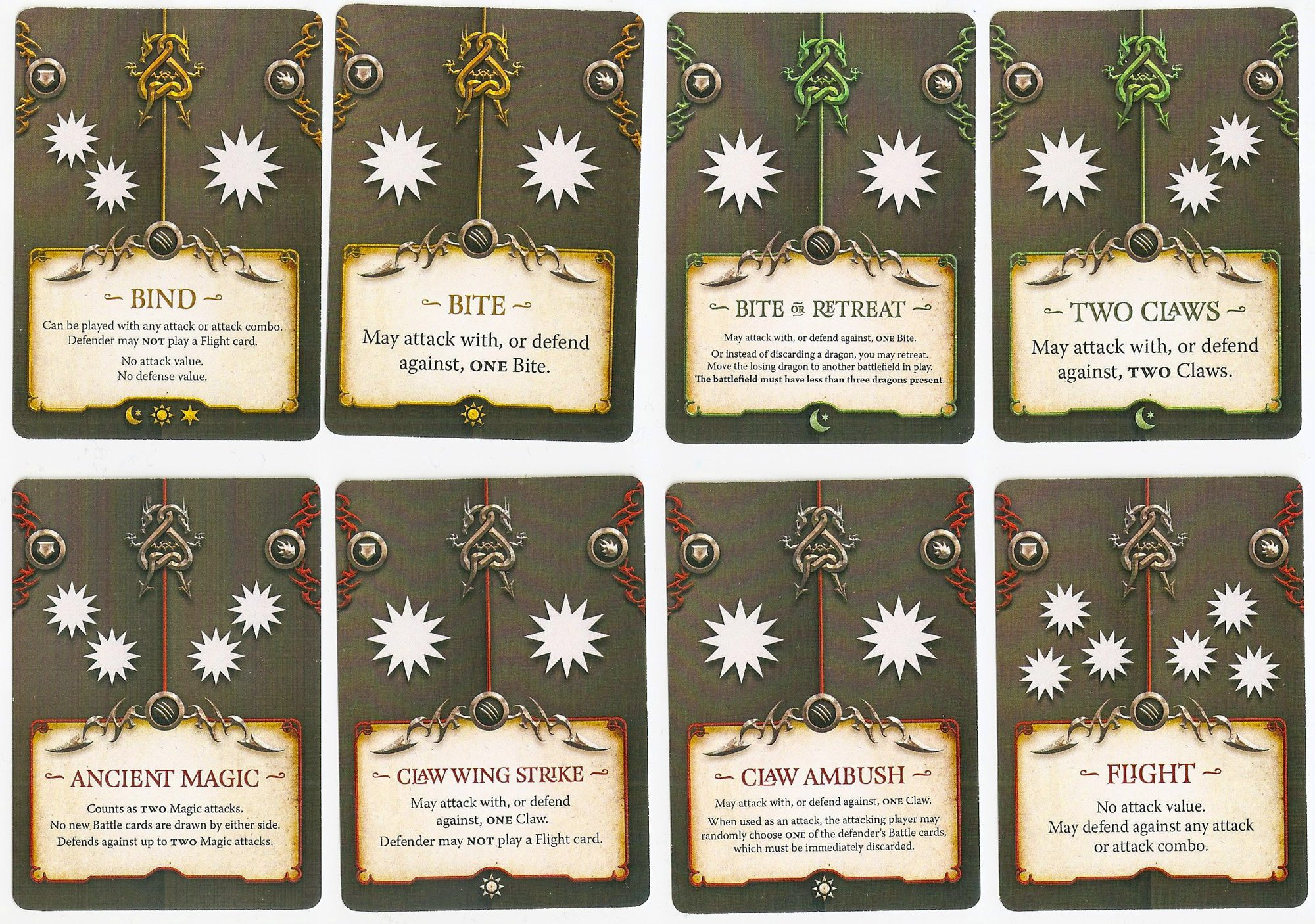 Draco Magi battle cards
