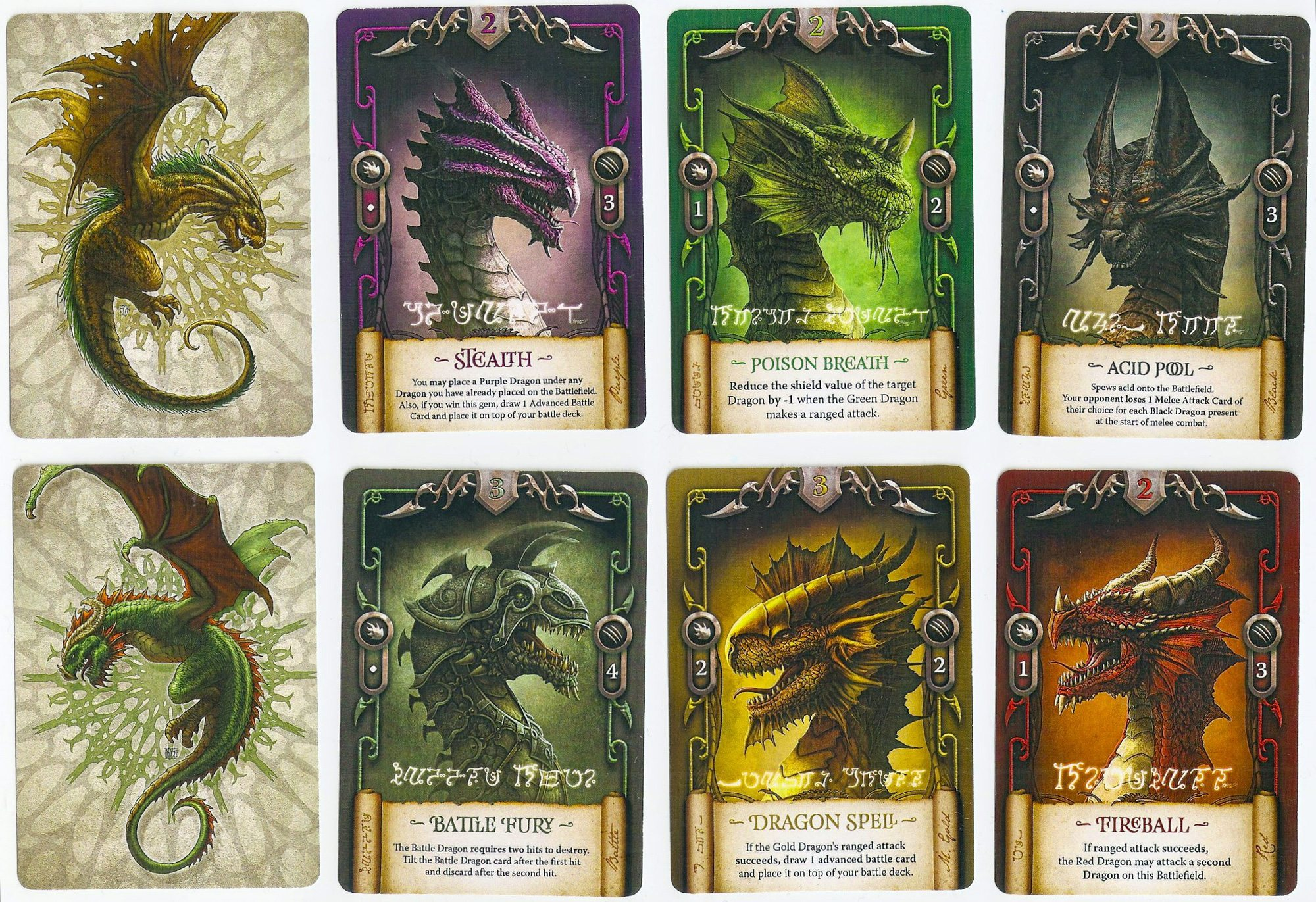 Draco Magi dragon cards