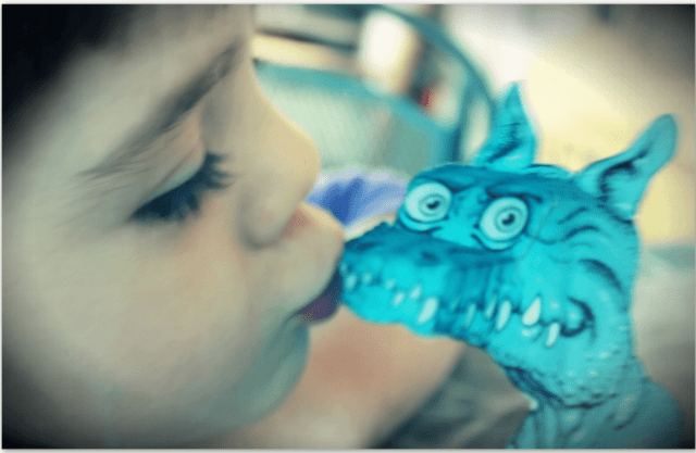 Make this little pet dragon who follows your every move. Image by Lisa Kay Tate