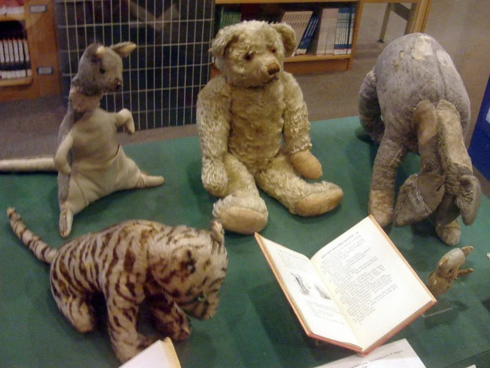 The original stuffed toys owned by Christopher Robin Milne.