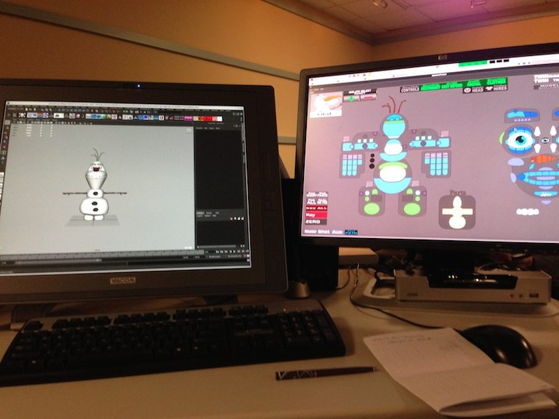 The basic setup for a Disney Animation Studios rigger.