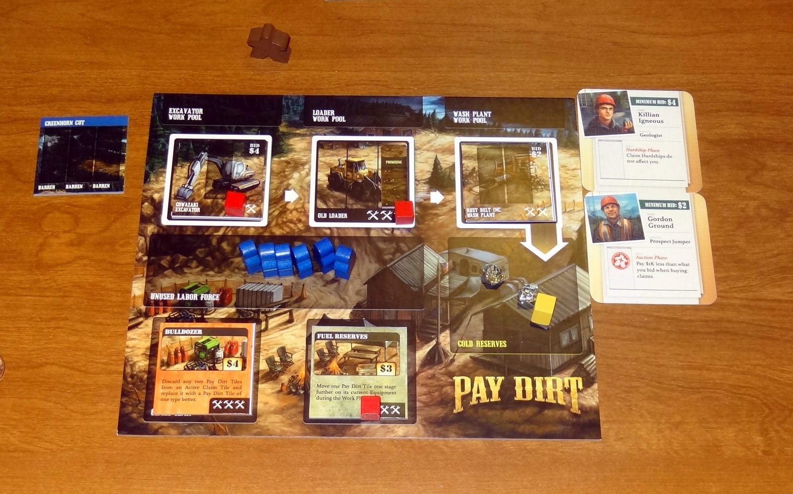 Pay Dirt player board