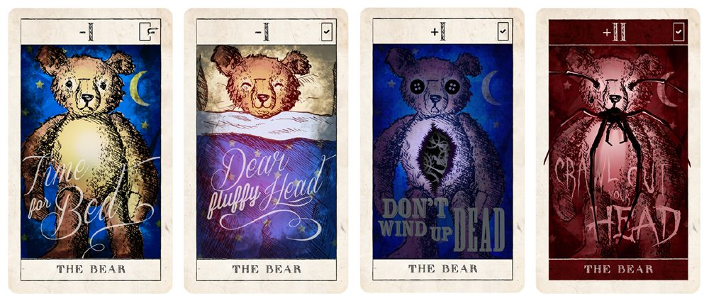Pleasant Dreams Bear cards