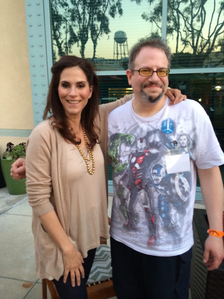 Jamie Gertz and me