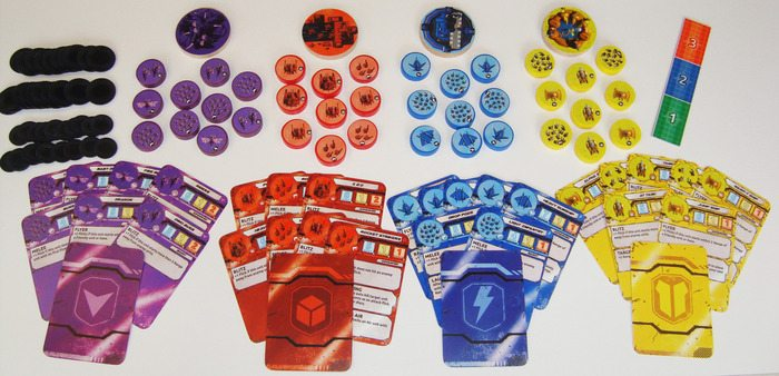 Flick Wars components