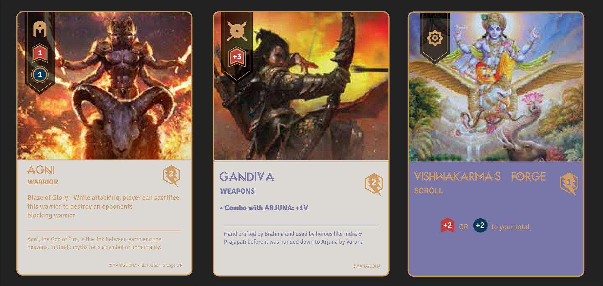 Maha Yohda cards