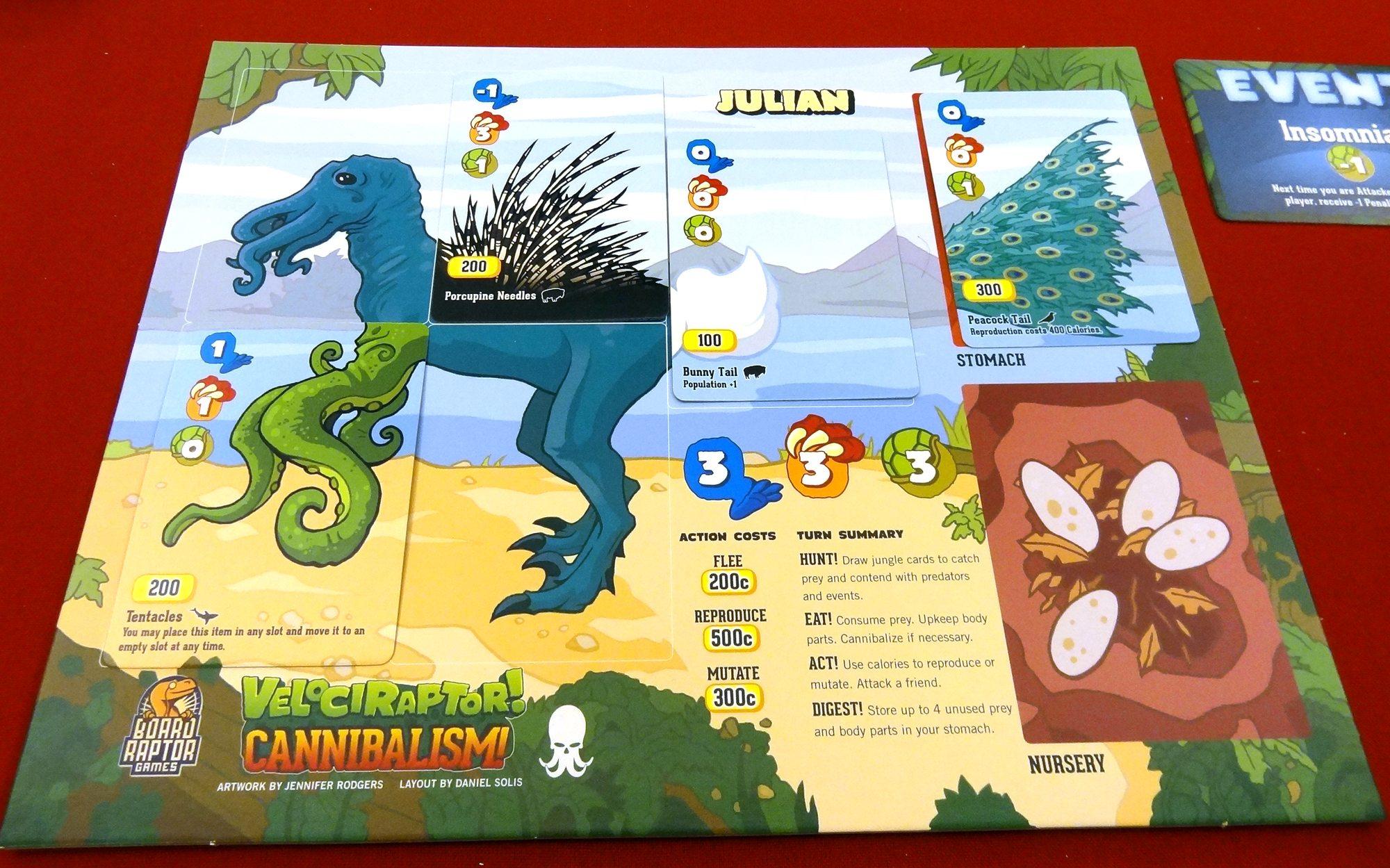 Velociraptor! Cannibalism! Julian
