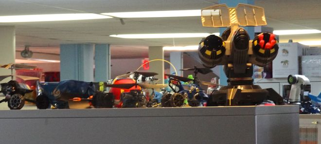 Office decoration at Spin Master HQ