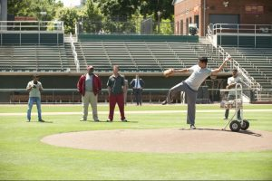 """We may have to tweak that,"" says baseball coach Tom House (Bill Paxton) while watching Rinku Singh (Suraj Sharma), a former javelin-thrower."