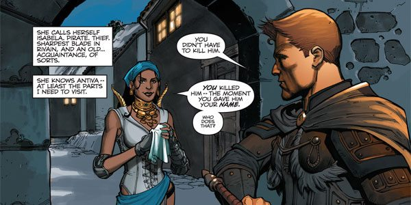 Isabela and King Alistair.