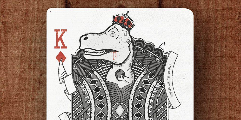 Royal Dinosaur Cards - king of diamonds