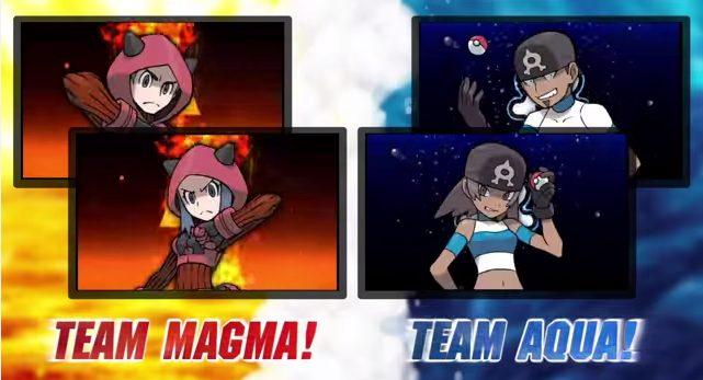 team magma and team aqua