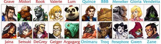 Yomi Characters