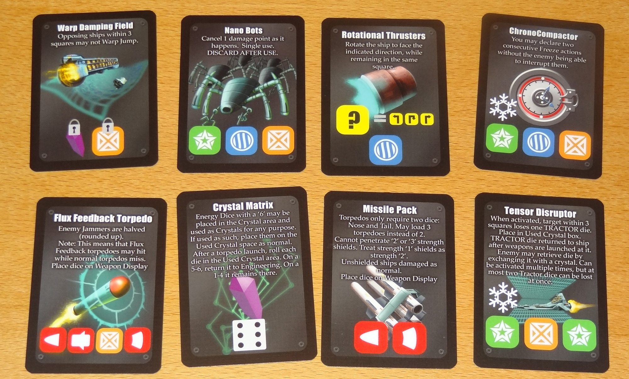 Die Fighter equipment cards