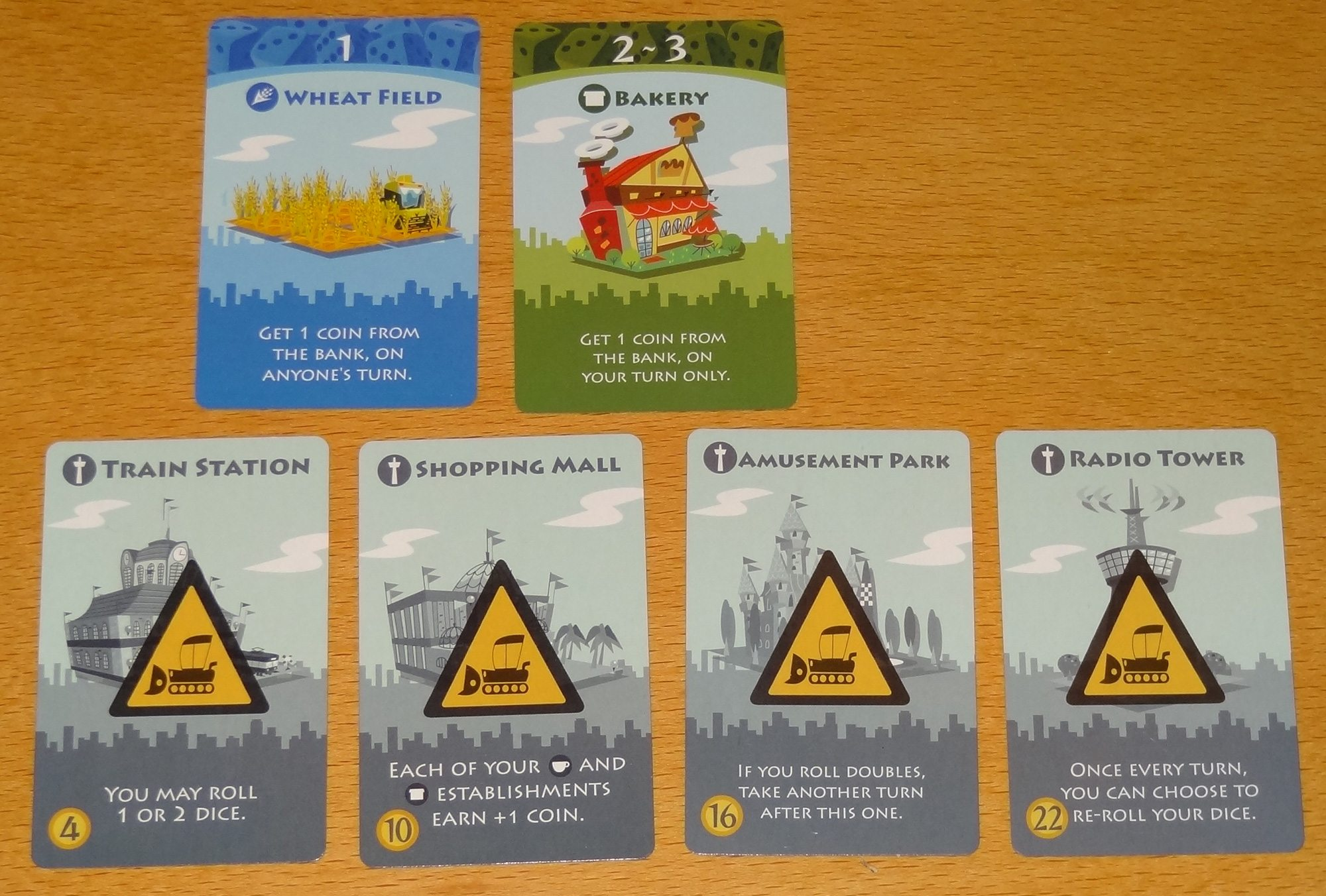 Machi Koro starting cards