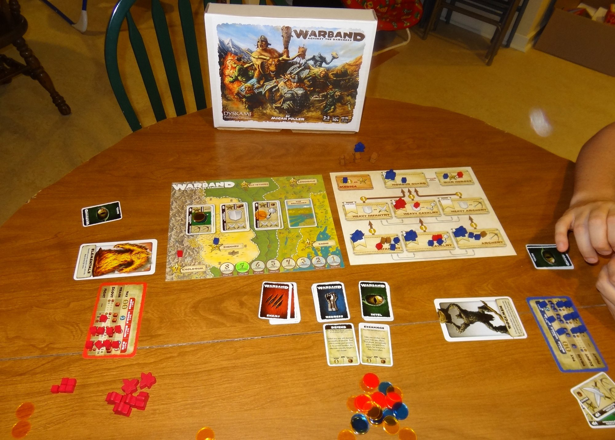 Playing a two-player game of Warband. (Prototype pictured) Photo: Jonathan  H. Liu
