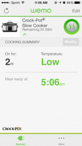 Once you set the programming, the WeMo app tells you what you need to know. Screenshot: Jenny Williams