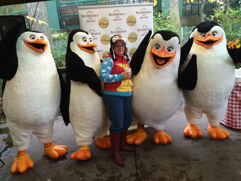 Wonder Woman likes penguins too. P.S. These hats? Very warm!  photo by Corrina Lawson