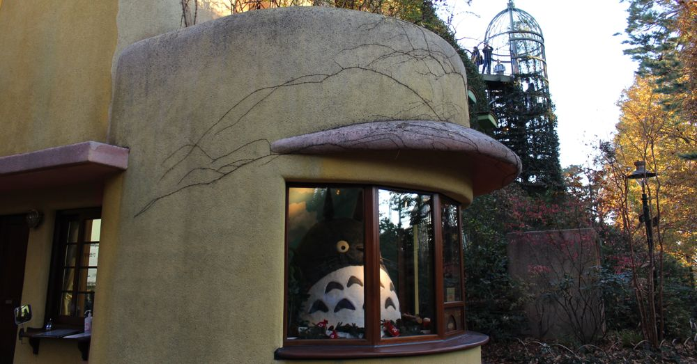 Totoro greets you at the Ghibli Museum