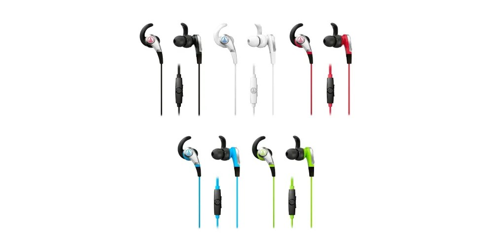 The earbuds come in a variety of colors. Image: Audio-Technica