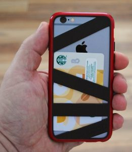 Straightjacket case holds credit cards