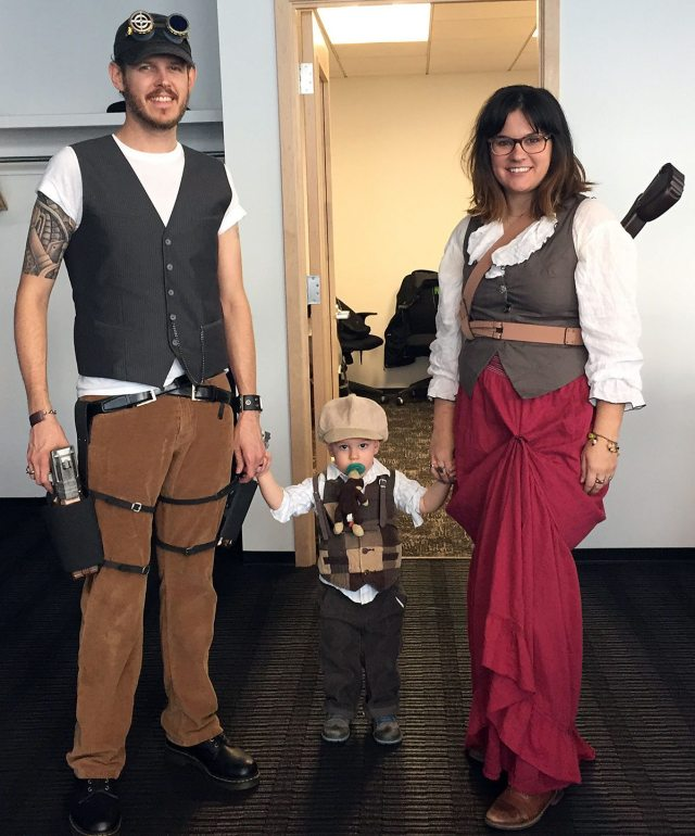 Steampunk family off to our first family Con! Photo by Will James.