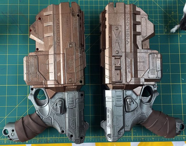 Finished pistols. Photo by Will James.