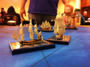 Ship miniatures from Sails of Glory