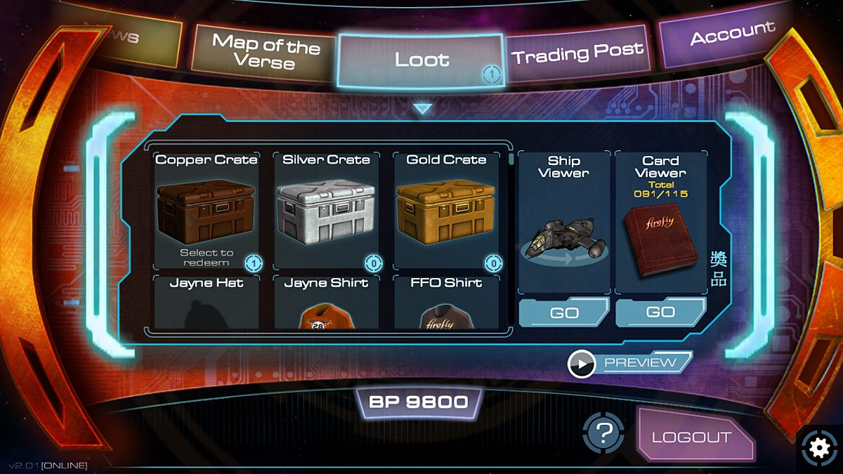 Earn loot from completing trade routes and increasing your rank.