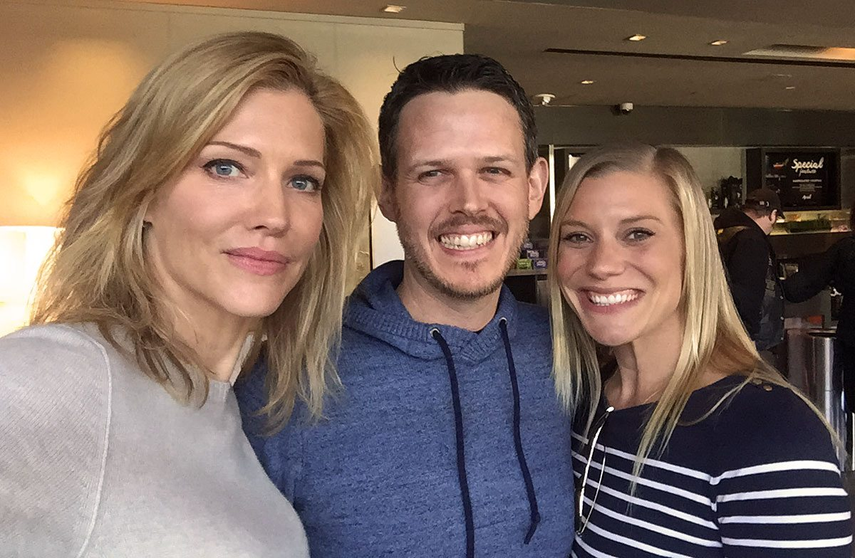 Writer's selfie with Sackhoff and Helfer